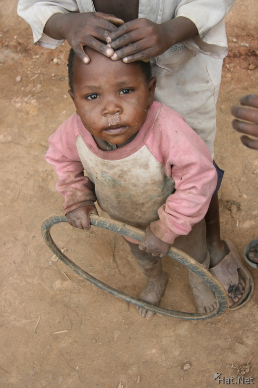 child and wheel