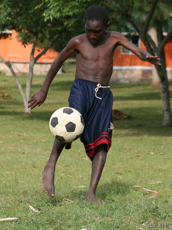 throwing  ball soccer boys story  africa