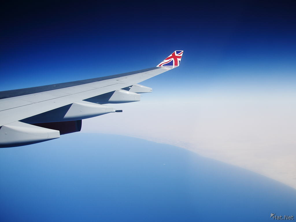 view--british airline over libyan coastline