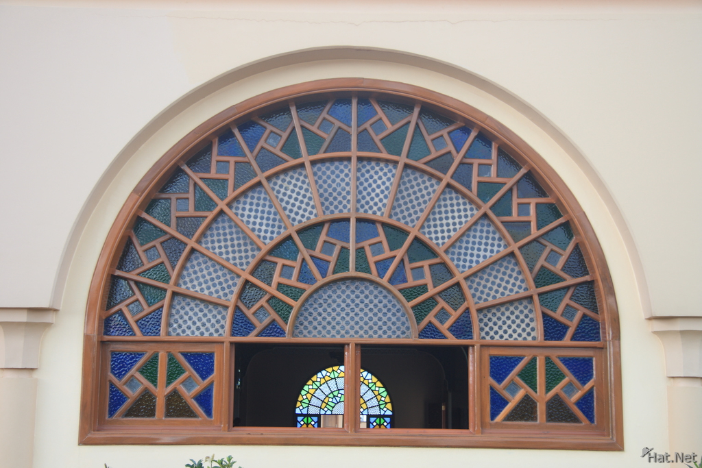 decorated window of the mosque