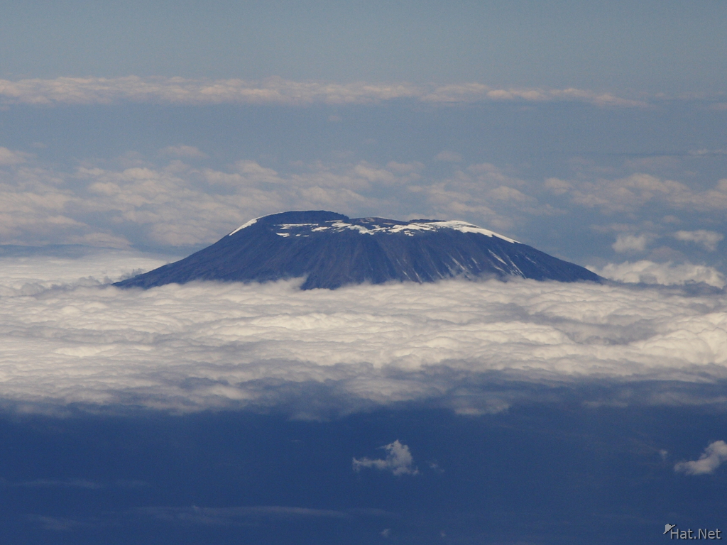 mountain kilimanjaro from air