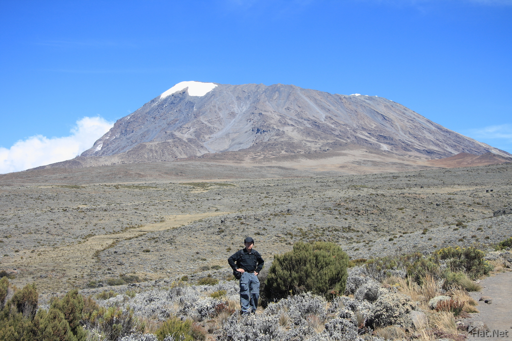 myself in front of kilimanjaro