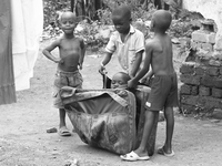 boy luggage Kampala, East Africa, Uganda, Africa