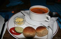 food--soup of the day Diani Beach, East Africa, Kenya, Africa