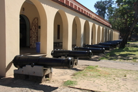 row of cannons Mombas, East Africa, Kenya, Africa