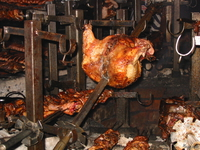 food--bbq chicken in carnivore Nairobi, East Africa, Kenya, Africa