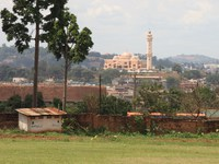 view of mosque from palace Kampala, East Africa, Uganda, Africa