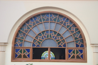 decorated window of the mosque Kampala, East Africa, Uganda, Africa
