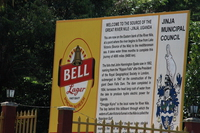 source of nile billboard Jinja, East Africa, Uganda, Africa