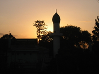 mosque in sunset Arusha, East Africa, Tanzania, Africa