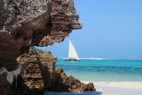 view-sail on emerald sea Zanzibar, East Africa, Tanzania, Africa