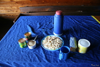food--some snacks on mandara hut Moshi, kilimanjaro, East Africa, Tanzania, Africa