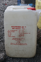 sulphric acid water container Kilimanjaro, East Africa, Tanzania, Africa