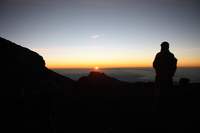 first light Kilimanjaro, East Africa, Tanzania, Africa