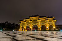 Taipei chiang Kai Shek Memorial at night Taipei,  Taipei City,  Taiwan, Asia