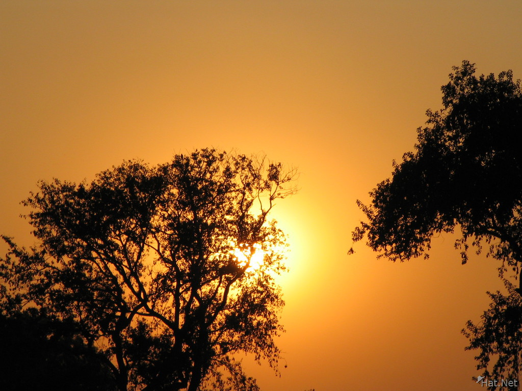 sunset chambal village