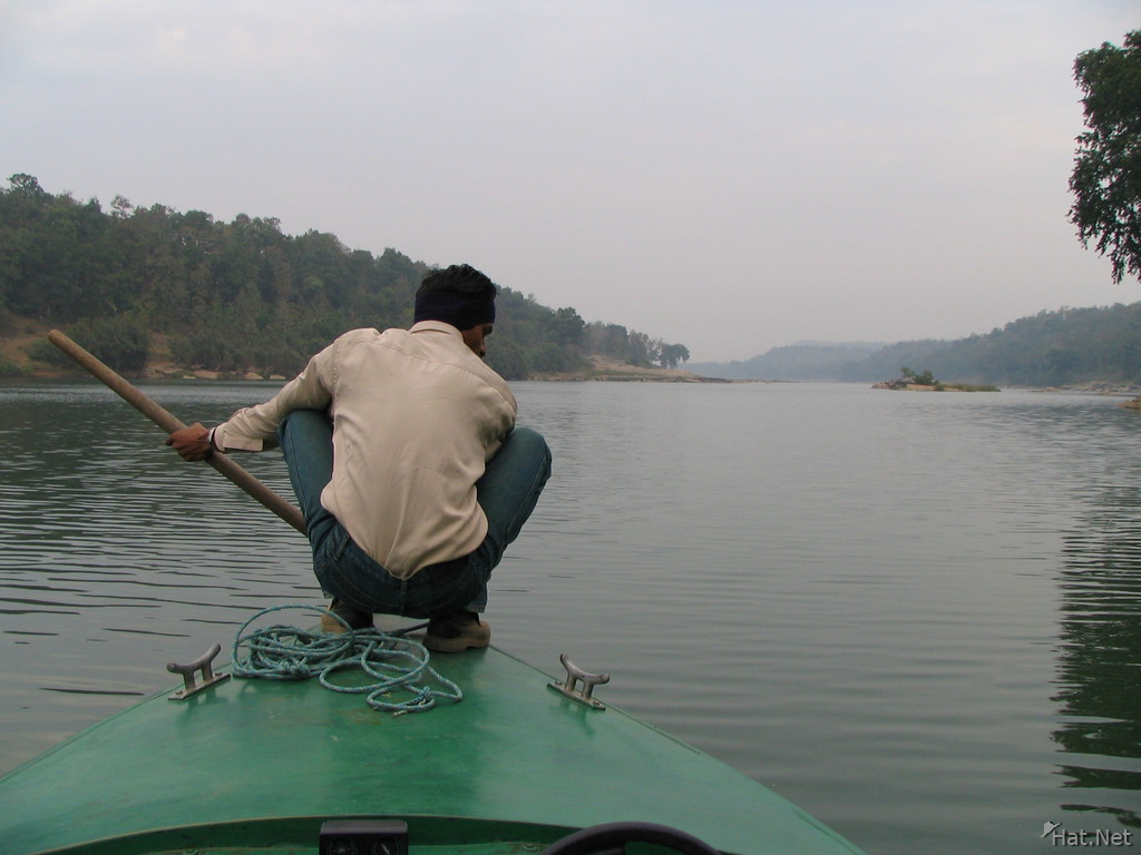 boater at panna river