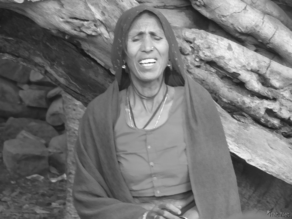 crying old lady at ranthambhore