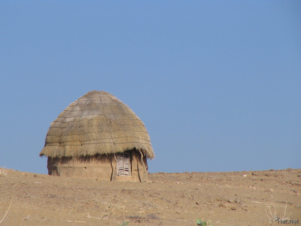 hut in desert