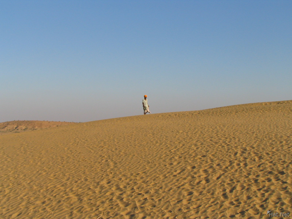 musician and sand dune