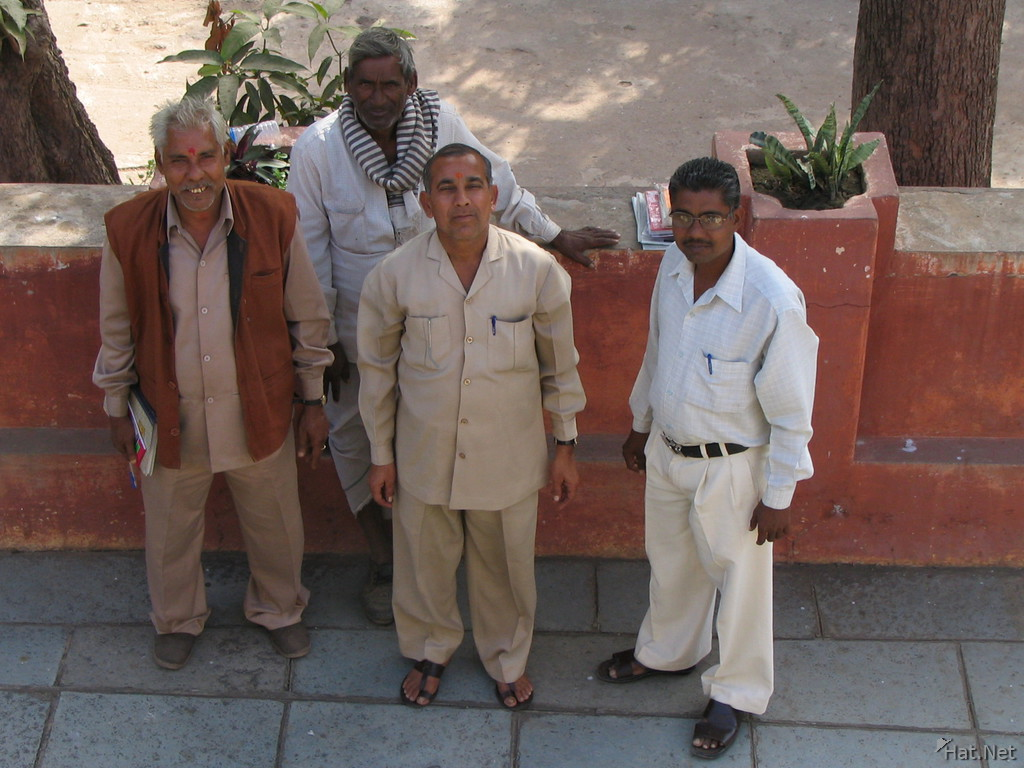 men in irrigation department
