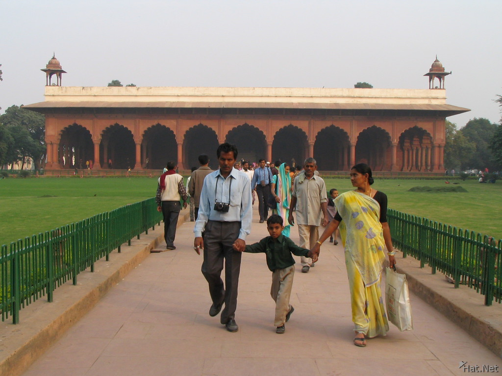 indians in red fort