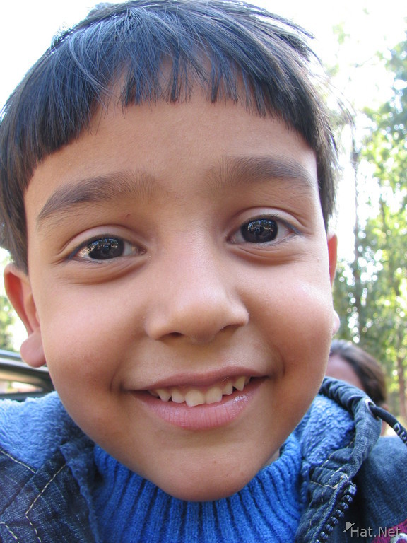 smile of the doctor boy in kanha