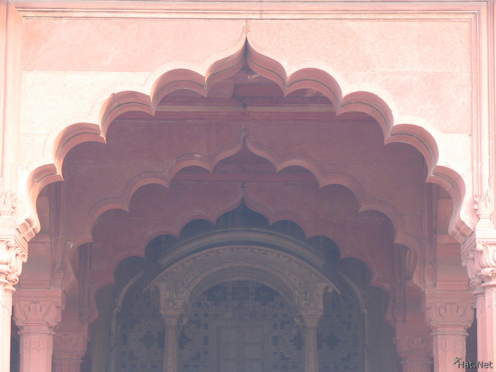 red arch in red fort