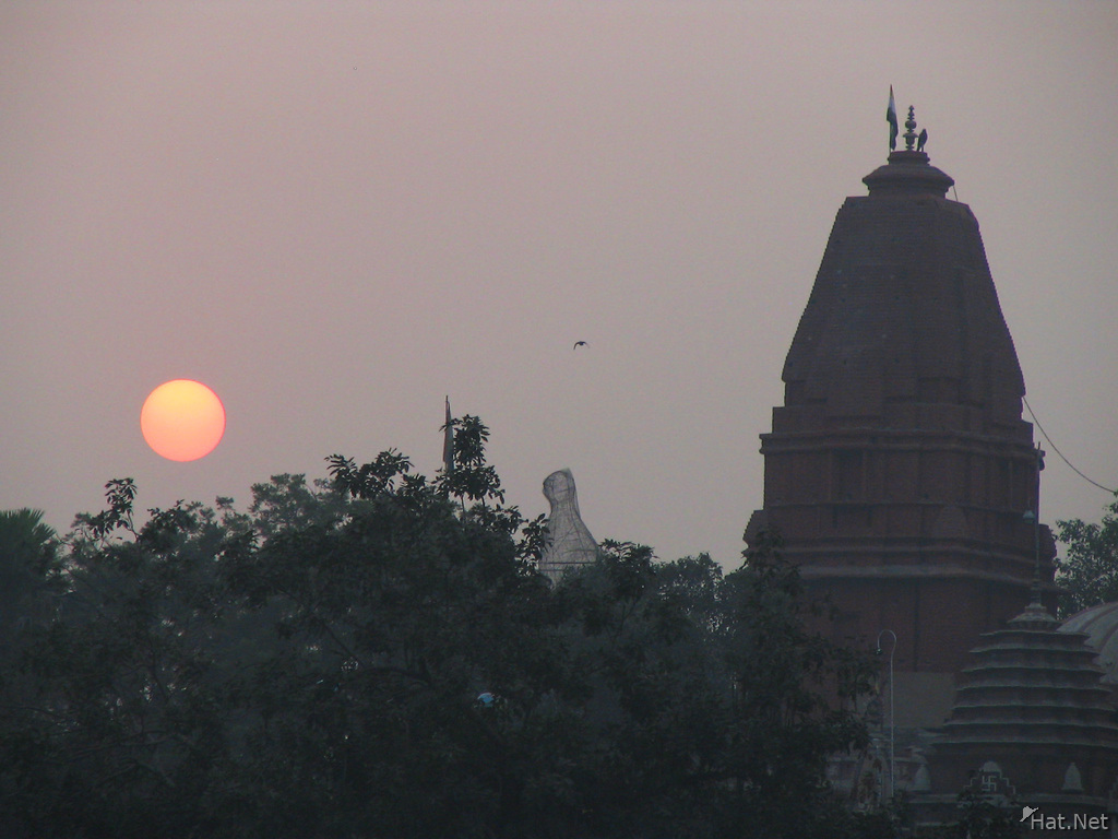 red sun and digambara jain temple