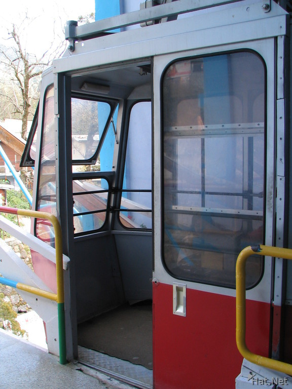 cable car to snow view
