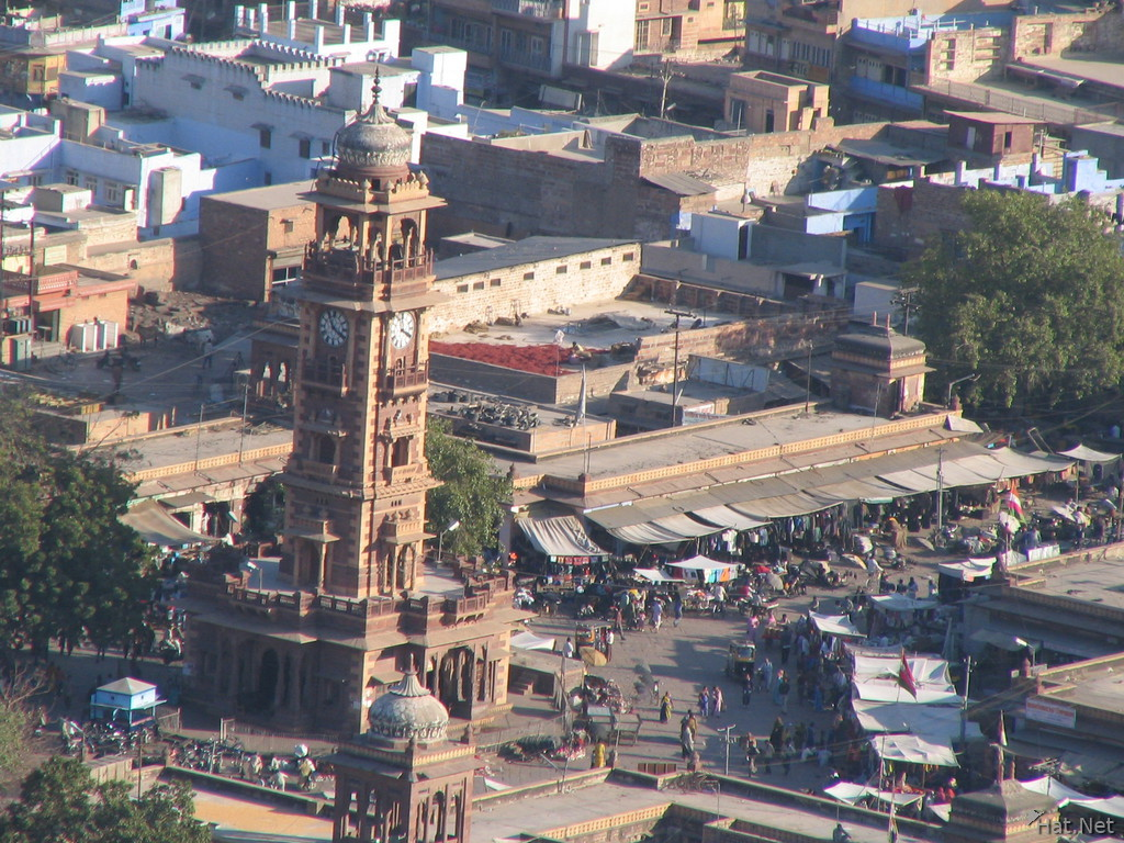 clock tower from above