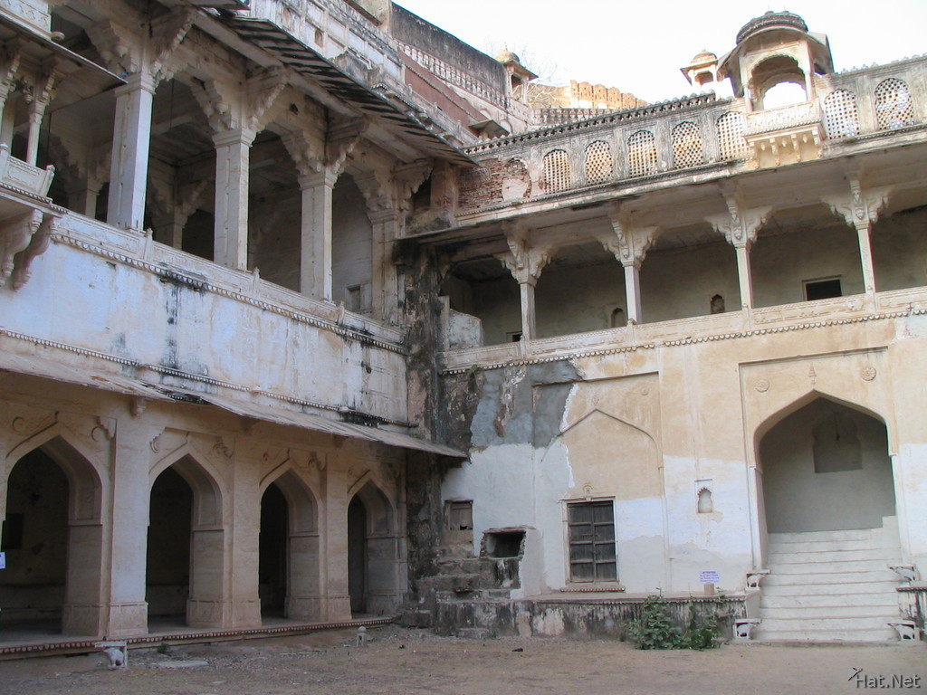 courtyard of ruined palace