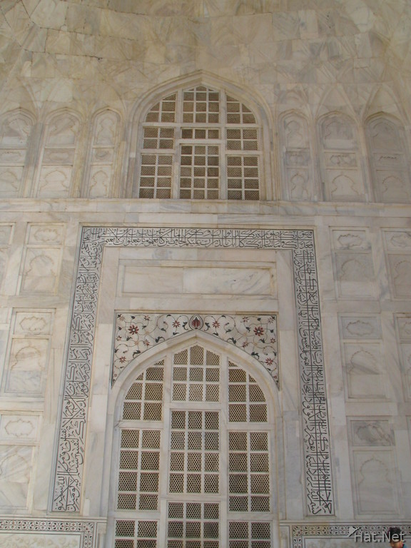 white windows of taj mahal