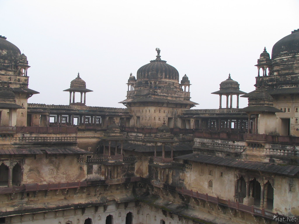 roof of jahangir mahal is full of vultures