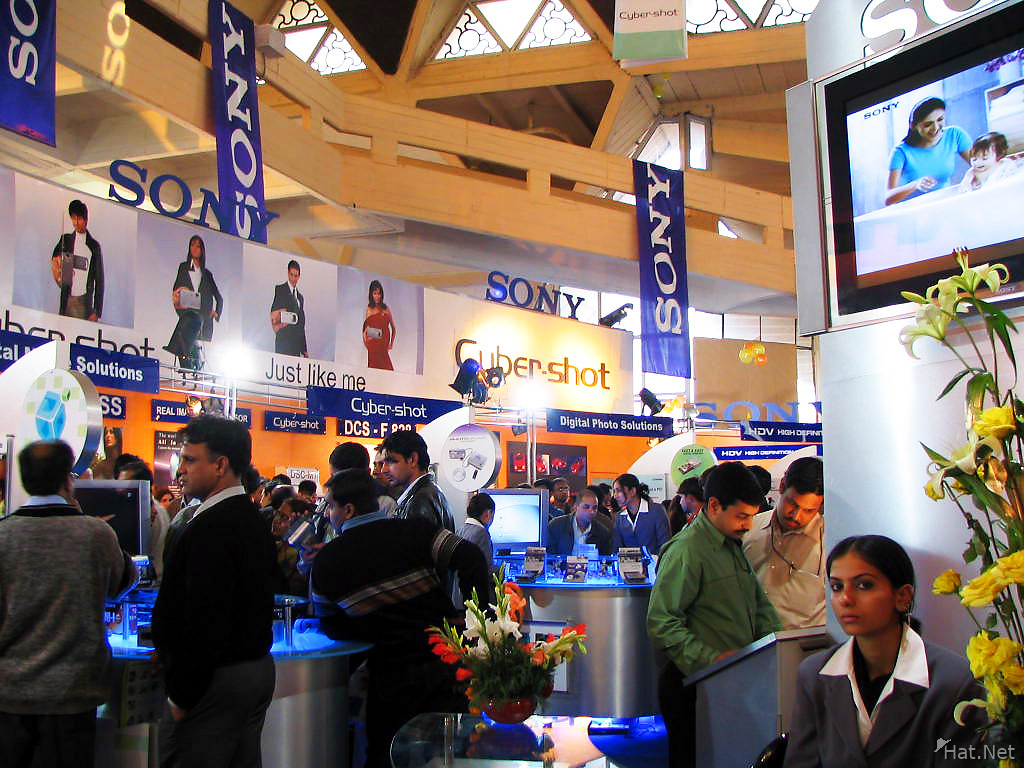 sony booth in imaging asia