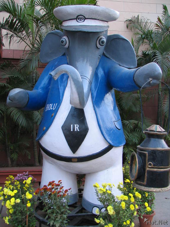 elephant outside railway ministry