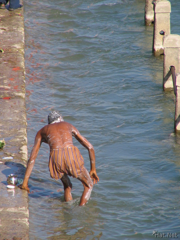 bathing in holy ganges canal