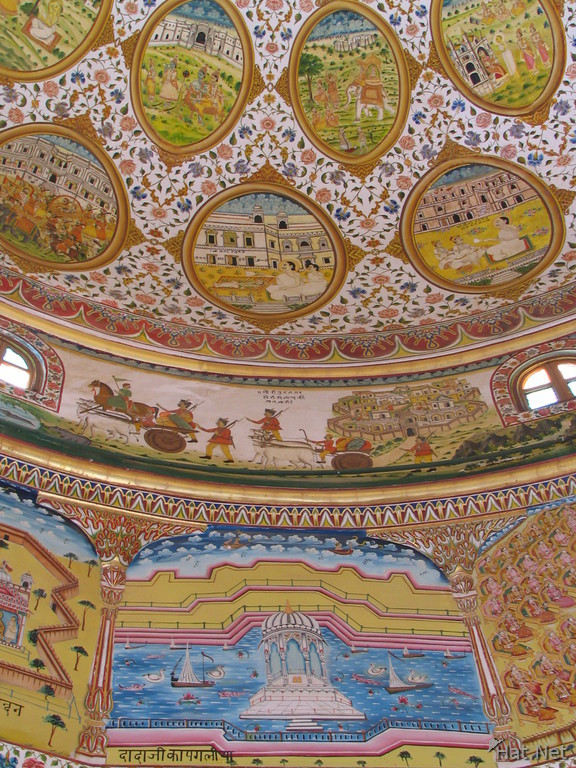 indian fairy tales on ceiling painting