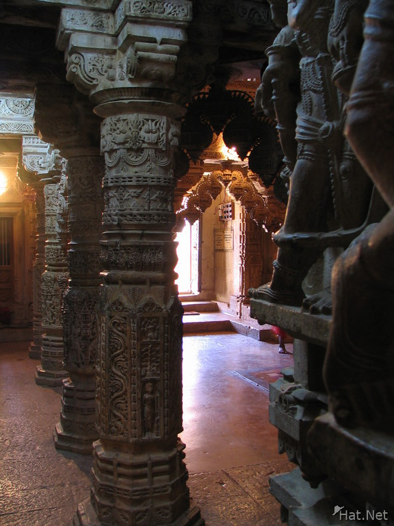 colonnades in the jain temple