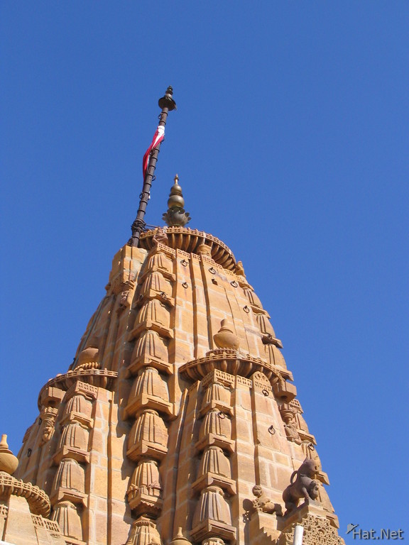 flag on jain temple