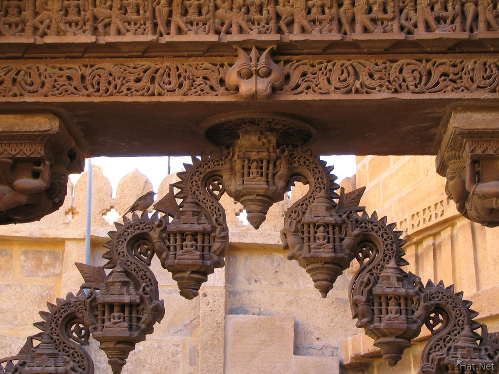 monkey carving on jain temple