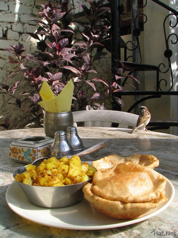 breadfast at haveli katkoun guest house