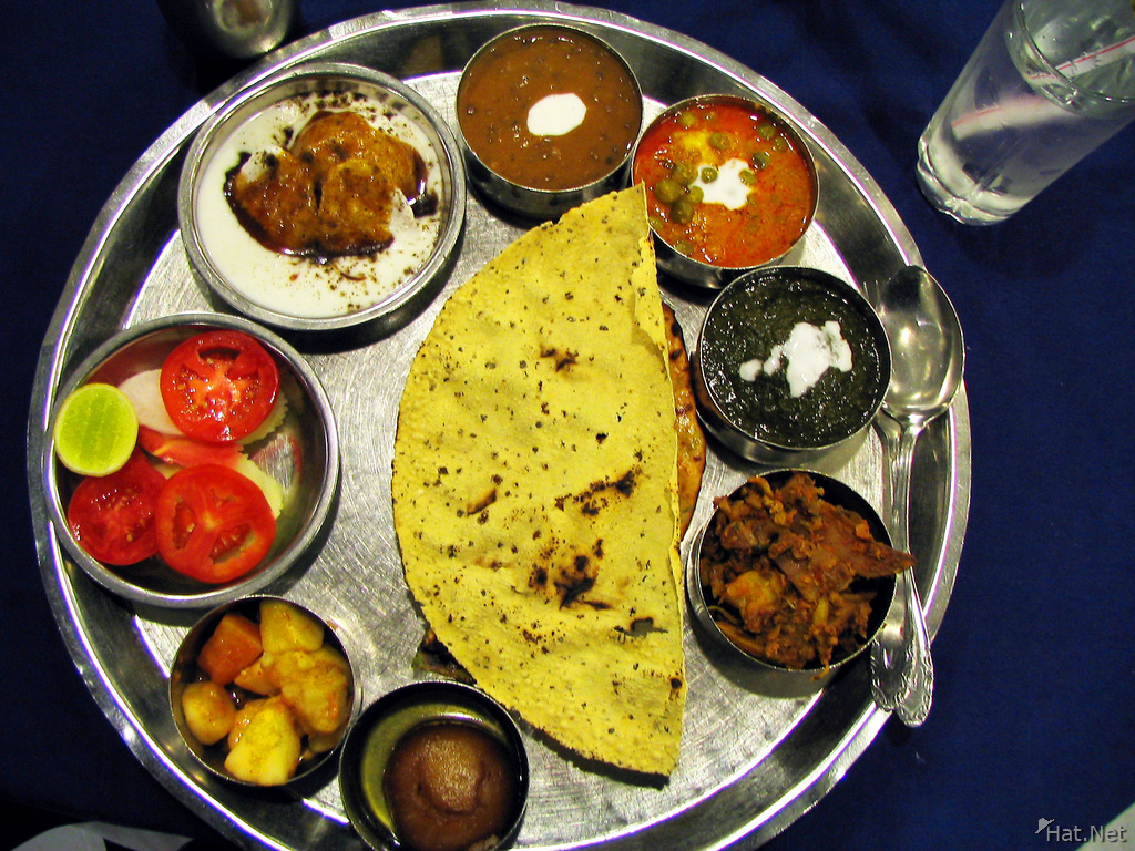 veggie thali of vega resturant in alka hotel near connaught place