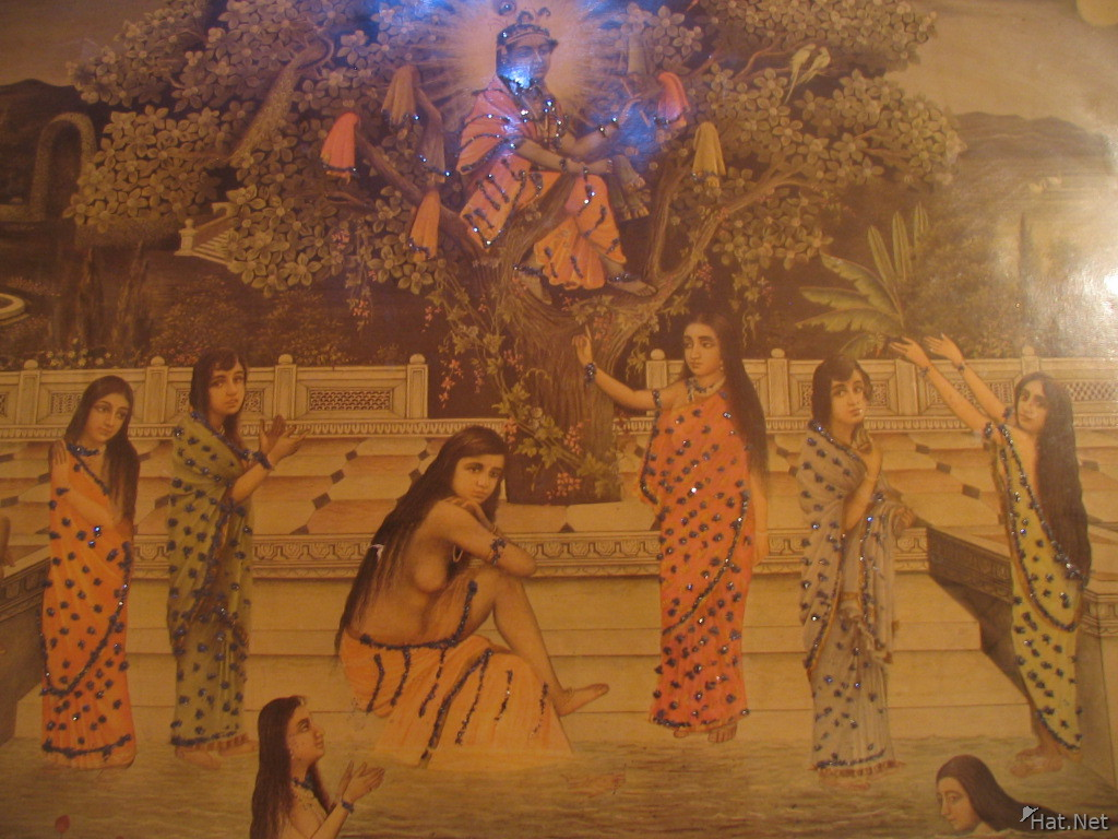 palace painting in toilet of bhairon vilas
