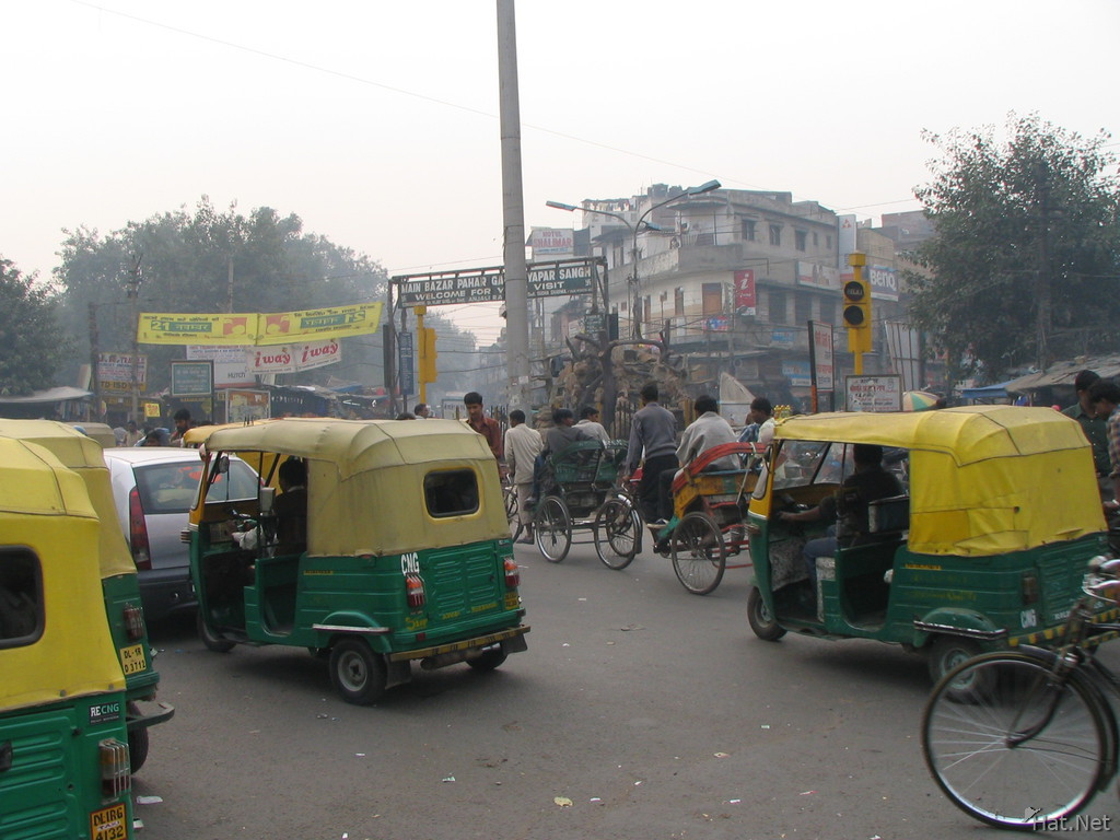 chaotic traffic outside main bazar