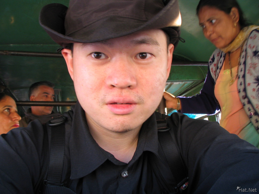 myself inside a crowded indian bus