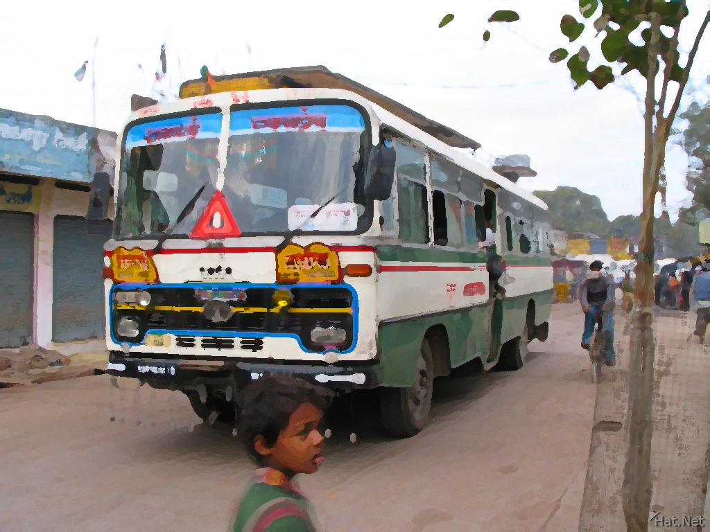 indian bus in chatarpur