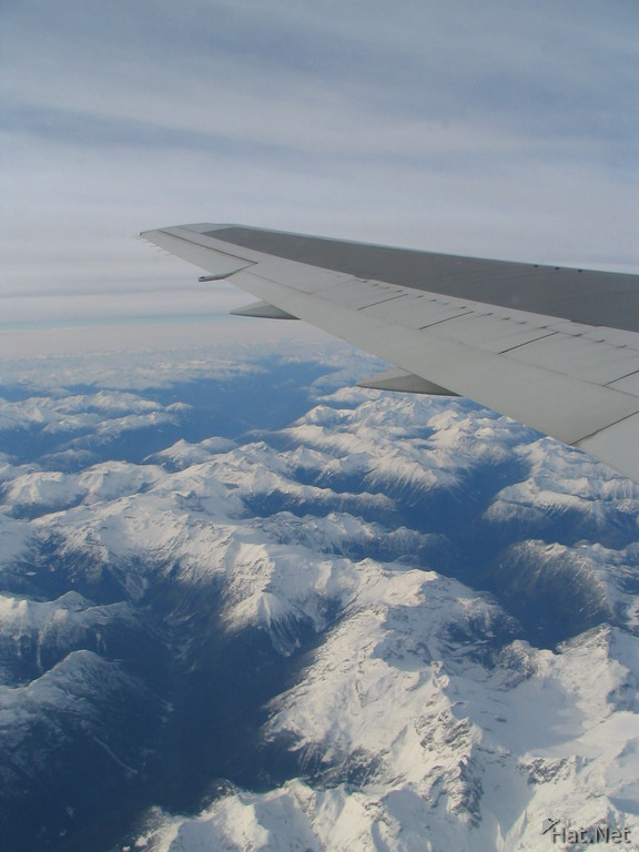 snowy ranges under the wing