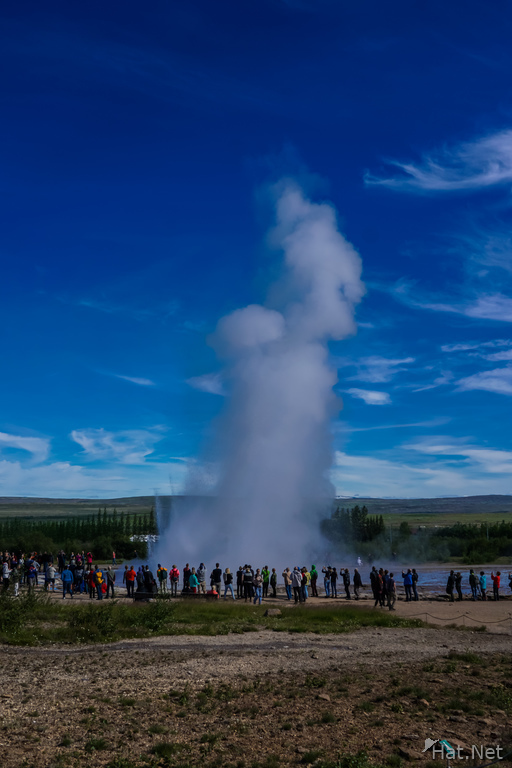 Golden circle Geysir eruption