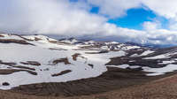 hrafntinnusker snow cap mountains South,  Iceland, Europe
